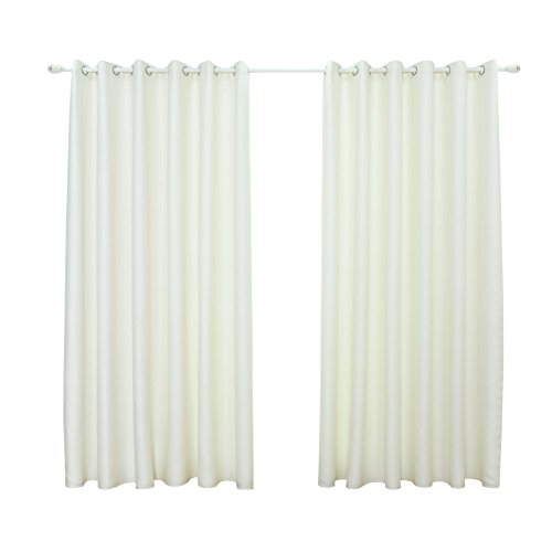 Trenton Solid Color Sheer Darkening Blackout Shade Curtain Home Window Bedroom Decor (White)