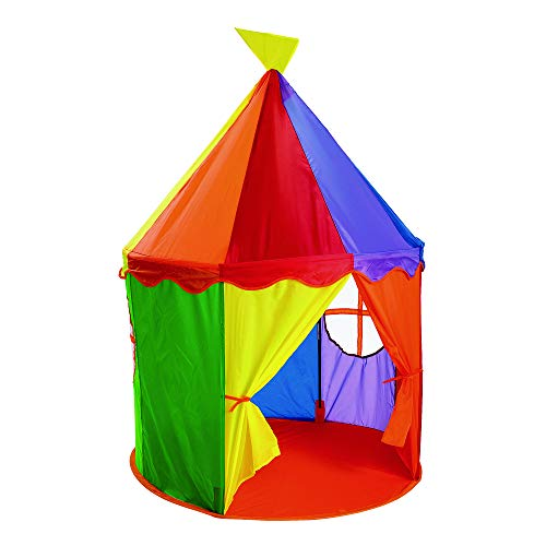 Kids Circus Play Tent - Excellerations Circus Tent - Toddler and Child Large Playhouse for Indoor and Outdoor Play and Games, 54