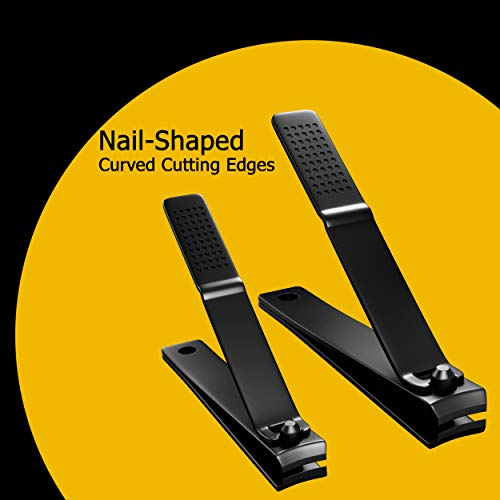 Nail Clippers Set  Professional Stainless Steel Fingernail  Toenail Clipper with Leather Case