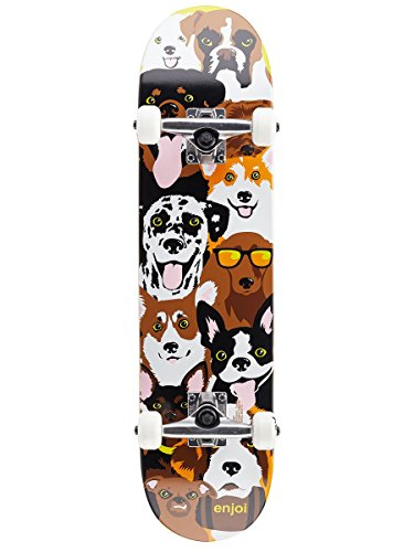 (Enjoi Dog Collage FP,Complete Skateboard,Yellow,29.8