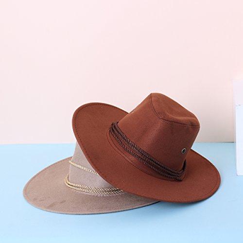 8ef91fe7cc7 SUNNYME Unisex Faux Felt Classic Western Cowboy Sun Hats Fedora ...