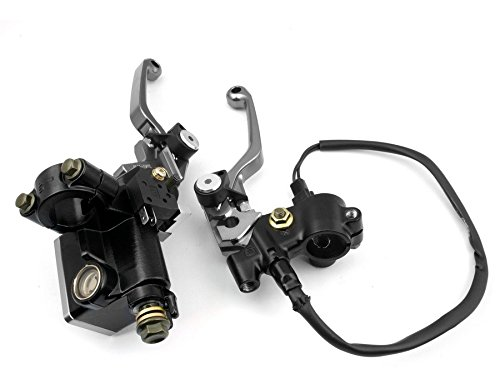 """Gray Racing Motorcycle CNC Dirt Bike 7/8"""" Left Right Hydraulic Brake Cable Master Cylinder Reservoir Pivot Clutch Levers For KTM 350SX-F 2007-2011"""