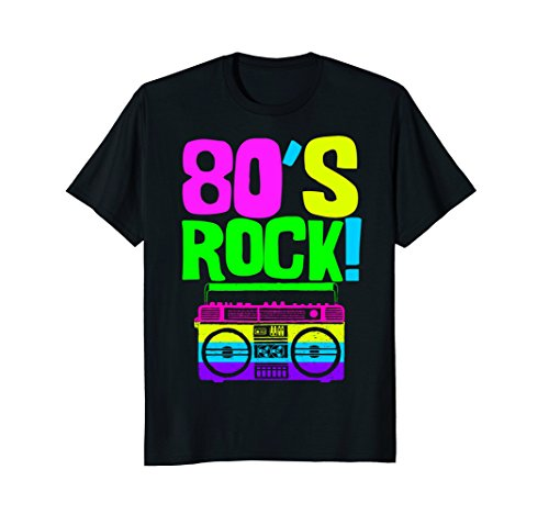 * NEW * 80's Rock! | Retro Neon 80s Party Wear Outfit Shirt - S to XXL