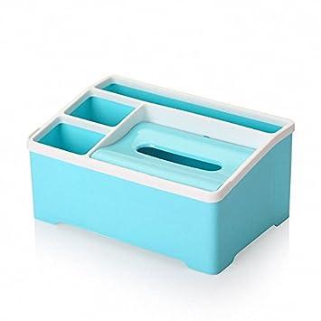 Hot caja de pañuelos Creative mando a distancia caja de almacenaje cajón acabado caja de desechos pequeñas cosas organizador escritorio cajas de plástico: ...