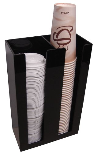 2 Sl Cup Lid Holder Dispenser Organizer Coffee Cup Caddy Organize Your Coffee Counter with Style (6004) by RCS Plastics