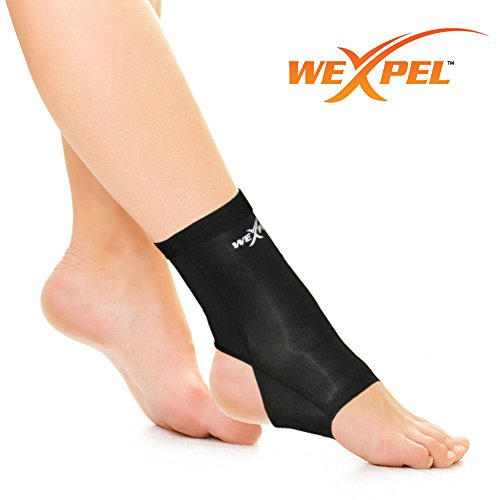 UPC 637459560733, Wexpel™ Copper Infused Ankle Compression Sleeve - Relieve and Heal Sprained Ankles, Stiff, Strained, Sore and Aching Joints in Your Foot - Small