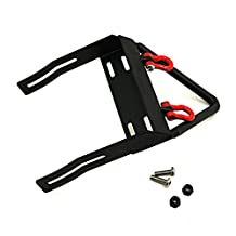 Jack-Store Steel Front Bumper Winch Mount Shackles for Axial SCX10 Black