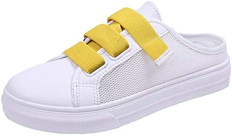Zapatos De Punta Redonda Casual Zapatillas Blancas Mujer Medias ...