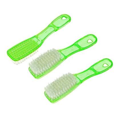 eDealMax mango de plástico Herramienta de ropa para lavar ropa, zapatos Cepillo de limpieza 3