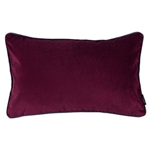 McAlister Matt Velvet | Large Boudoir Pillow Case Cover | 24x16 Wine Burgundy Red | Lush, Plush & Soft Classic Modern Accent Décor (X 16 Cover 24 Pillow)