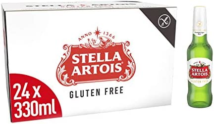 Stella Artois Gluten Free Premium Belgian Style Lager Beer 24 X 330 Ml Amazon Co Uk Grocery