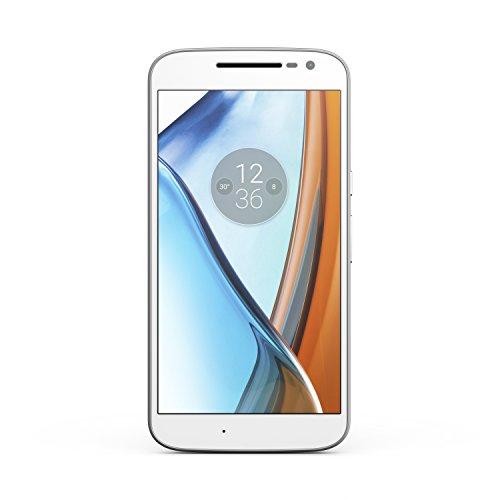 Motorola Moto G4 16GB XT1622 Dual-SIM Factory Unlocked Smartphone - International Version with No Warranty (White)