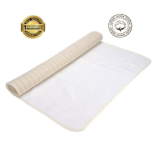 Waterproof Mattress Protector COKHEX,Anti-Allergy and Cool Mattress Protector made of Bamboo Fiber and Cotton-Crib