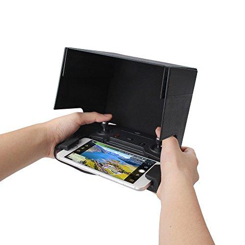 RCGEEK Mavic Pro Phone Sun Hood Sunshade Monitor Hood Folable for 5.5 inch Smart Phones with DJI Mavic Pro DJI Spark DJI Mavic Air Controller from RCGEEK