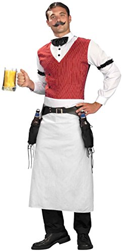[Forum Novelties Men's Plus-Size Bartender Plus Size Costume, Multi, Plus] (Plus Size Saloon Bartender Costumes)
