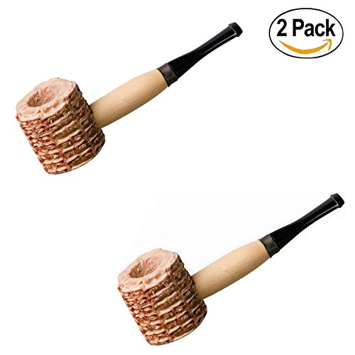 Set of 2, Forum Novelties Corn Cob Pipe (Non-Functioning Prop) (2) - Country Lovin Costumes
