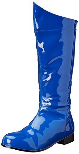 Blue Costumes Boots (Funtasma Men's Hero 100 Engineer Boot, Blue Patent, Medium/10-11 M US)