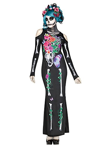 (Fun World Women's Beautiful Bones Costume, Multi,)
