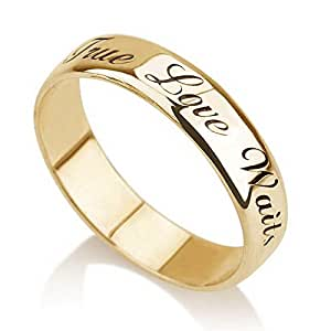 Amazon.com: Personalized Purity Ring, Engraved Promise