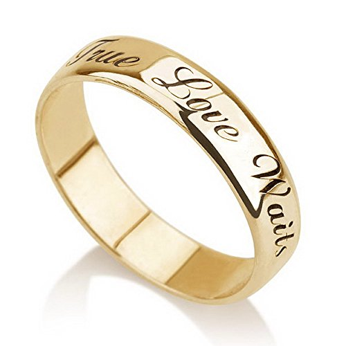 Amazon Personalized Purity Ring Gold Plated Engraved Promise