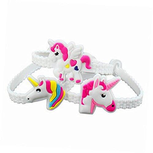 Nikkycozie Emoji Identification party unicorn wristband bracelets, rainbow unicorn birthday favors supplies by Nikkycozie (Image #4)
