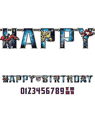 Amscan Transformers Add-an-Age Letter Banner -