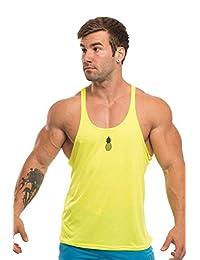 JJ Malibu Men's Pop Color Gym Racerback Tank-top Stringer