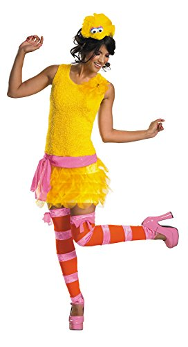 UHC Women's Sesame Street Big Bird Sassy Outfit Fancy Dress Halloween Costume, M (8-10)