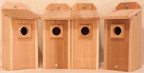 4 Cedar Bluebird Houses