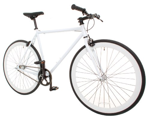 Vilano Medium (54cm) Rampage Fixed Gear Bike Fixie Road Bike, White Pro-Motion Distributing - Direct