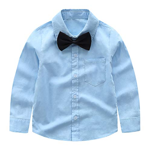 ad5626d10681d ... Yilaku Gentleman Suspender Outfits Suit for Toddler Boys 4Pcs 100%  Cotton Shirt and Pants with ...