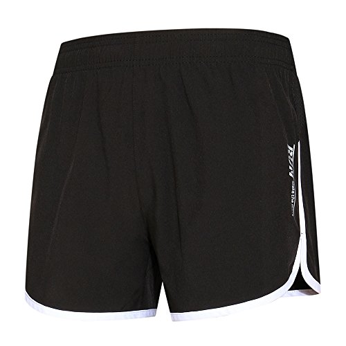 LancerPac Lightweight Bodybuilding Quickdry Mens Running Short Fitness Jogging Exercise Shorts White L
