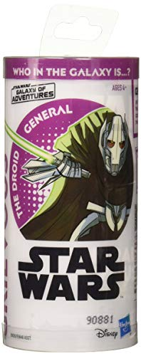 Star Wars Galaxy of Adventures General Grievous 3.75-Inch-Scale Figure Toy and Mini Comic - Learn About ()