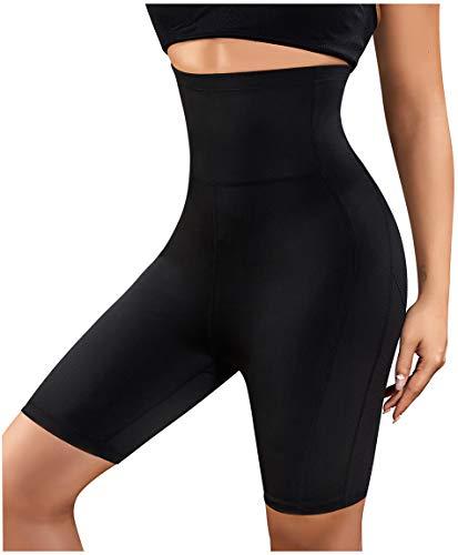 Gotoly Women's Shorts Body Shaper High Waist Smooth Slip Panty Tummy Control Thigh Slimmer (Black, XXX-Large)
