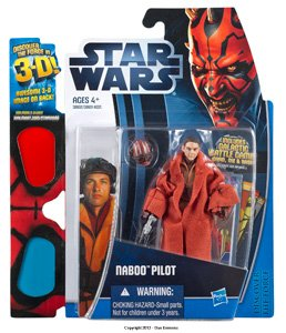 Naboo Pilot (Star Wars 2012 Discover the Force, Naboo Pilot Exclusive Action Figure 10/12, 3.75 Inches)