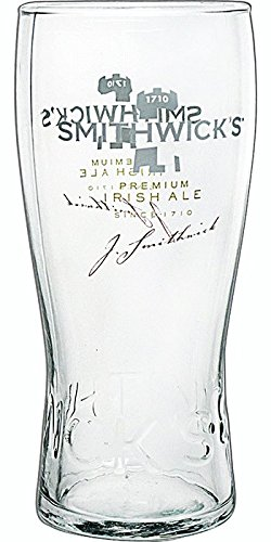 Luminarc 4 Piece Smithwick's 20 oz Glass with Nucleation and Embossment, Clear