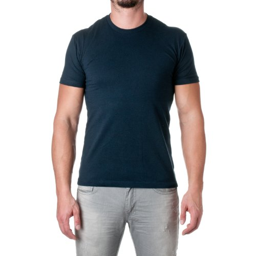 Next Level Mens Premium Fitted Short-Sleeve Crew T-Shirt - Large - Midnight Navy