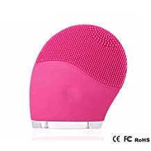 Ultrasonic Cleansing Face Massager Anti-Aging Facial Brush rechargeable waterproof, Sonic Facial Brush, Cleanser & Massager (Pink)