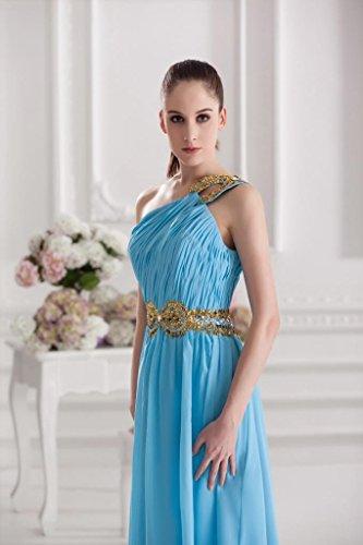 Abendkleid GEORGE BRIDE Blau Langes eine Schulter Herrliches Blau dqYq7rxzw