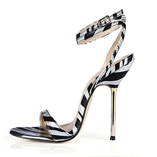 El Femenino Black Hierro Vida Sandalias Shoes Alto La Con Mostrar White Finos Nocturna De Banquetes heel 844Rqp