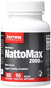 Jarrow Formulas NattoMax, Supports Healthy Circulation,100 mg, 90 Veggie Caps