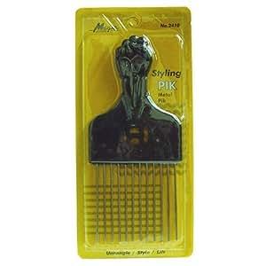 Amazon.com : Afro Hair Pik - Afro Styling Pick, Metal #2410: Untangle