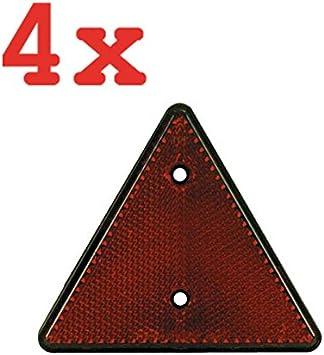 Hp Pfefferkorn Bundle 4x Dreieck RÜckstrahler Kst GehÄuse Rot Schraubbar SchenkellÄnge 150 Mm Auto