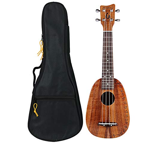 top solid 21 inch soprano ukulele with Gig bag (pineapple)