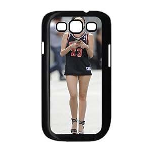Samsung Galaxy S3 Case Miley Cyrus in Chicago Bulls #23, Samsung Galaxy S3 Case High Quality - [Black] Bloomingbluerose