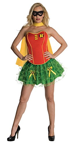 [UHC Women's Dc Comics Robin Flirty Corset Theme Party Halloween Sexy Costume, X-Small (4-6)] (Robin Corset Costume)
