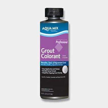 Aqua Mix Grout Colorant - 8 oz Bottle - Charcoal Gray - Tile ...