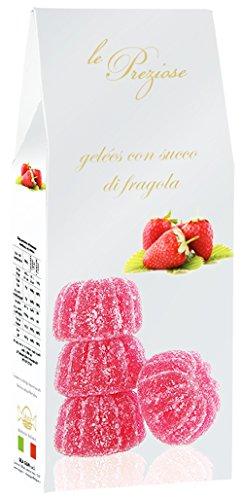 Le Preziose Italian Fruit Jelly Sweets with Fruit Juice 7.9oz (Strawberry)