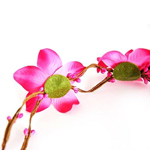Elastique Bandeau Rose Mariée Rouge Acmede Couronne Pour Floral Fleurs Femme Plage De Blanc Photographie Cheveux Vacances Mariage SdwxTqFd