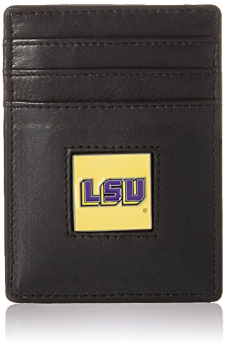 Siskiyou NCAA Louisiana State Fightin Tigers Leather Money Clip/Cardholder